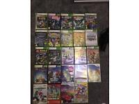 25 games. 17 Xbox. 7 wii games. Also Xbox connect