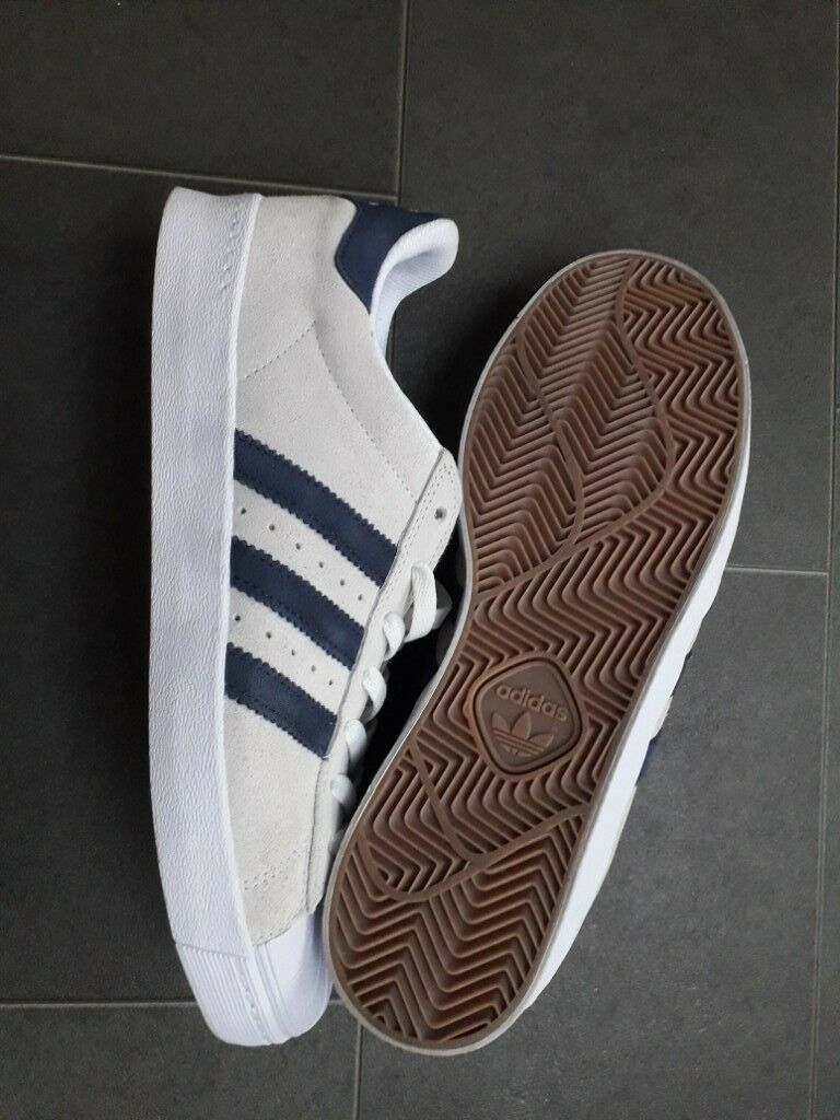 premium selection 4082f 948dd Adidas Originals Superstar Vulc Adv - Crystal White Collegiate Navy White  (9.5)
