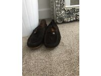 Men's Gucci brown suede 👞 loafers