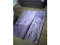 Purple curtains 70inch drop