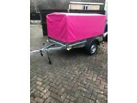 Brand new Box trailer 6x4, camping, motorbike car trailer