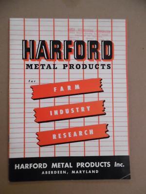 1954 Harford Metal Prod. Poultry Equipment Catalog Aberdeen Maryland Vintage Vg