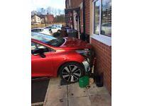Renault Clio TCE Cat d front end damage air bags gone off runs still no leaks