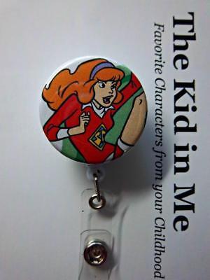 Scooby Doo Daphne Dress (Daphne kicking leg up Red Dress  Scooby Doo Retractable Reel  ID Badge)