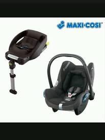 Maxi cosi cabrio fix carseat and isofix easy base