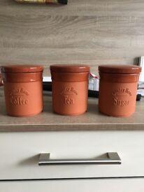 Sugar Coffee and Tea Jars