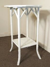 OCTAGONAL SHABBY CHIC VINTAGE BAMBOO COFFEE SIDE TABLE FREE DELIVERY EDINBURGH GLASGOW TAYSIDE FIFE