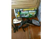 Towing mirrors for caravan, trailer