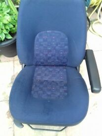 Front driver seat in blue for 2005 fiat ducato
