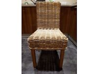 6 chairs in perfect condition - teak wood - abaca