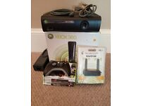 Xbox 360 Elite 120 GB & wireless adapter & controller & 5 games