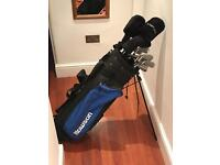 Set of Howson prodrive golf clubs and bag