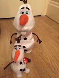 Olaf talking/walking