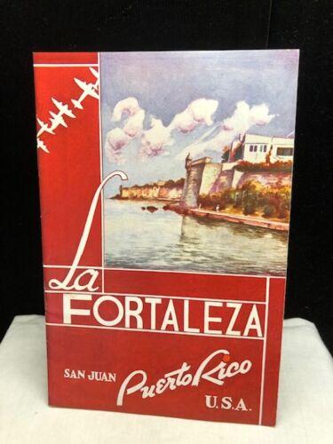 Vintage La Fortaleza San Juan Puerto Rico Booklet Brochure c 1950