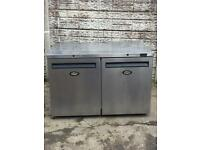 Good condition commercial chiller stainless steel pizza topping fridge £250 price