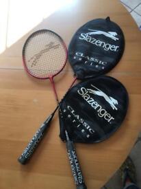 "Brand new badminton rackets x2. £10for the pair. Slazenger ""match"""