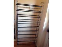 10 shelf metal shoe rack