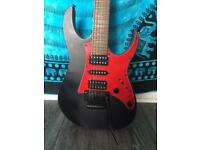 IBANEZ RED AND BLACK ELECTRIC GUITAR