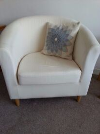 Two seater Ikea Sofa and arm chair, Very good Condition