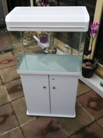 80 litre fish tank with cabinet