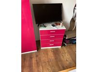 Girls bedroom chest of drawers