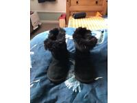 Girls size 13 black NEXT ankle boots