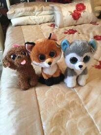 Three TY Beanie Boos for sale