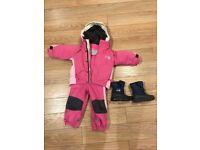 1-2 Spotty Otter winter jacket & dungarees, JoJo boots