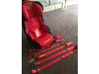 Ferrari branded child car seat for sale