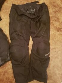 Gear motorbike trousers with protection pads size 4xl.