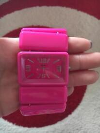 pink henley watch