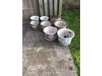 Garden and indoor ceramic pots