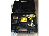 Dewalt brushless combi drill with 4 amp battery, charger and box
