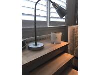 Silver IKEA desk lamp. With bulb