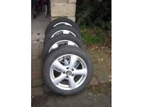 4 x 4 x MW Alloy Wheels with SP Winter Sport Tyres - Suitable for Audi A3 and Golf