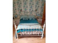 Cream & Brass finished double bed