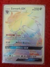 Pokemon Cards - Rainbow Zoroark GX