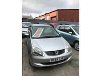 Automatic Honda Civic Automatic 1.6 petrol 5 doors hatchback 5 seater family car 2004 04 plate