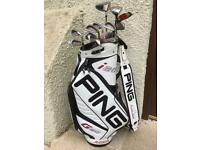 PING special golf set package 2-SW + rare Ping Tour Bag