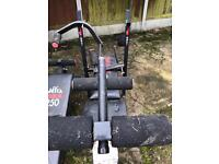 York bench, weight lifting, keep fit bench, sit up, stomach crunch bench