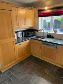Used modern shaker style kitchen with Neff appliances