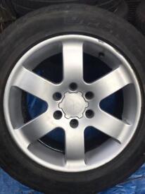 "Mitsubishi shogun sport 18"" alloys tyre"