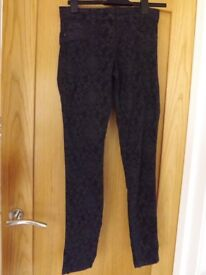 New Look Flower Jeans Size 10