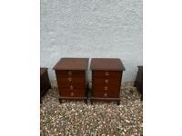 Pair Stag Minstrel 4 drawer bedside chests * free furniture delivery *