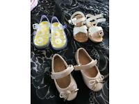 3 x pairs of girls shoes infant size 4