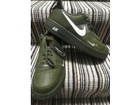Size 10 UK NIKE AIR FORCE 1 '07 LV8 UTILITY GREEN OLIVE Trainers