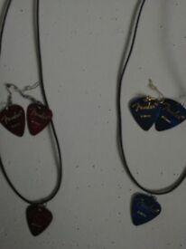 hand made guitar pick jewellery