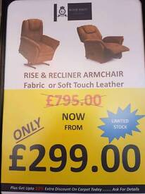 Reclyner armchairs. At Armstrong Mill ilkeston