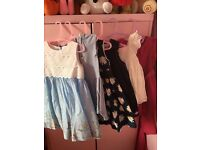 Selection of girls dresses 18-24 months