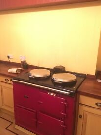 Oil fuelled double oven aga